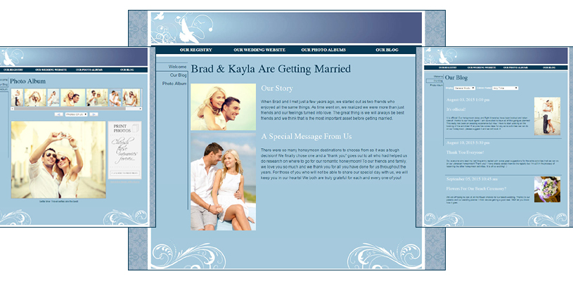 Honeymoon Registry Wedding Website Single Page Free